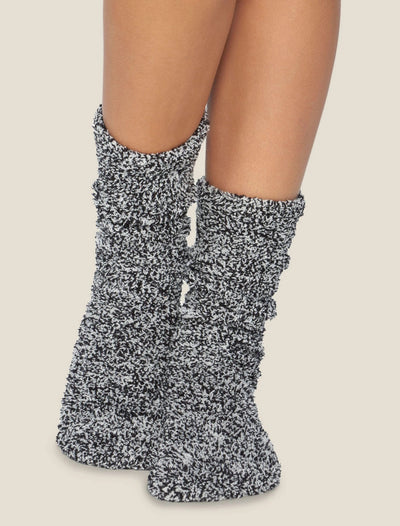 Barefoot Dreams - Cozychic Women's Heathered Socks in Black-White