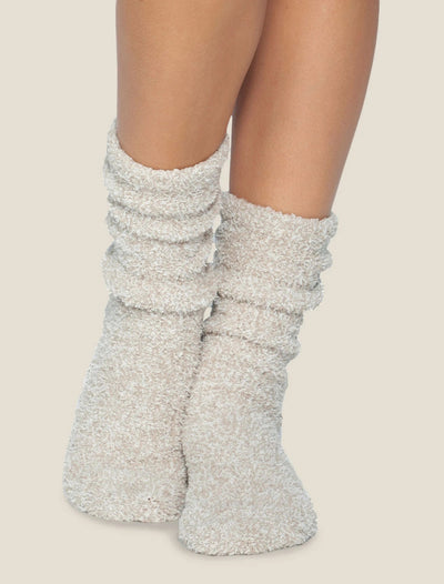 Barefoot Dreams - Cozychic Women's Heathered Socks in Stone - White