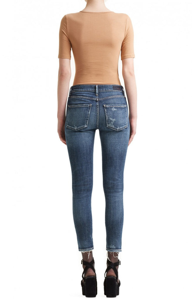 AGOLDE Sophie Hi Rise Skinny Crop Starwood Distressed