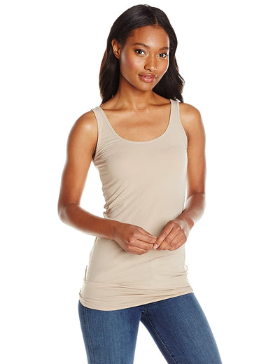 Splendid - Long Layering Tank in Almond