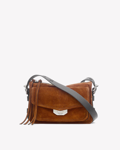 Rag & Bone- Small Field Messenger Tan Suede