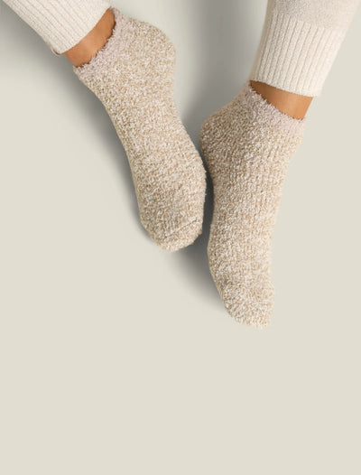 Barefoot Dreams - CozyChic 2 Pair Tennis Sock Set in Stone Multi
