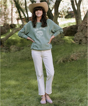 The Great - The College Sweatshirt with Crest Graphic Basil