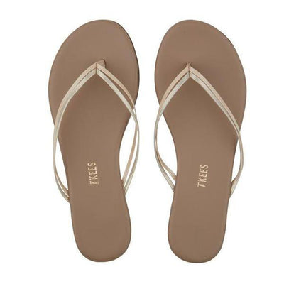 TKEES - Duos Sandal in Oyster Shell