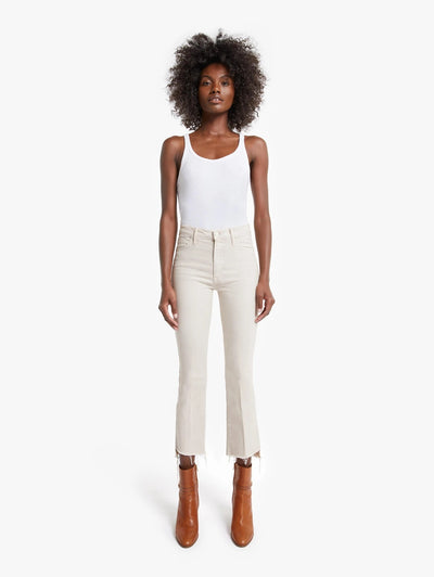Mother Denim - The Insider Crop Step Fray in Toasted Ivory