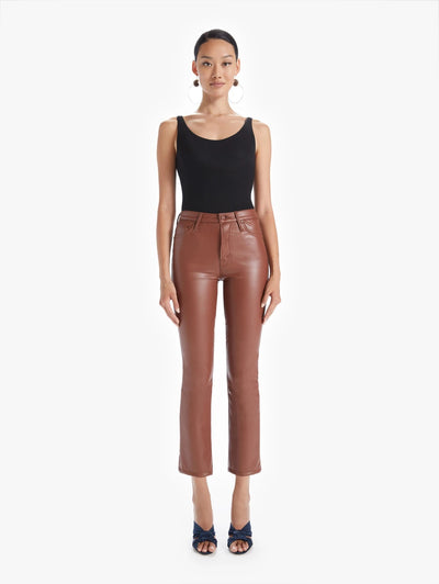 Mother Denim - The Insider Ankle Pant in Tortoise Shell Faux Show