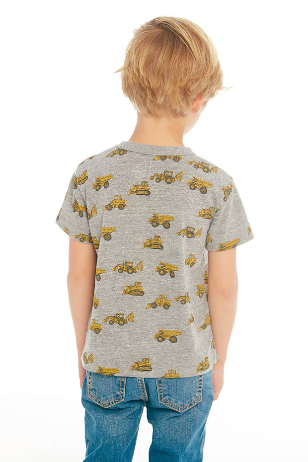 "CHASER KIDS - Boys Triblend Crew Neck Tee ""Tractor Life"""