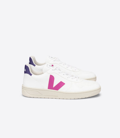 Veja - V-10 CWL Sneakers in White Ultraviolet Purple