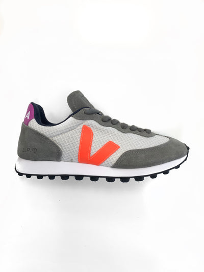 Veja - Riobranco Hexamesh Gravel Orange-Fluo Ultraviolet Shoes