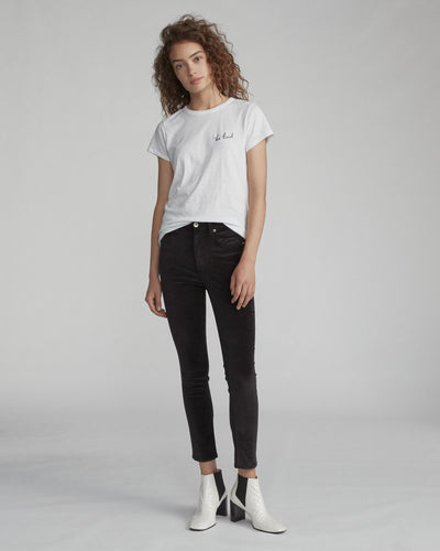 Rag & Bone -  High Rise Velvet Skinny Black