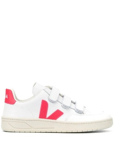 Veja Sneakers - V-Lock Leather Extra White Rose Fluo