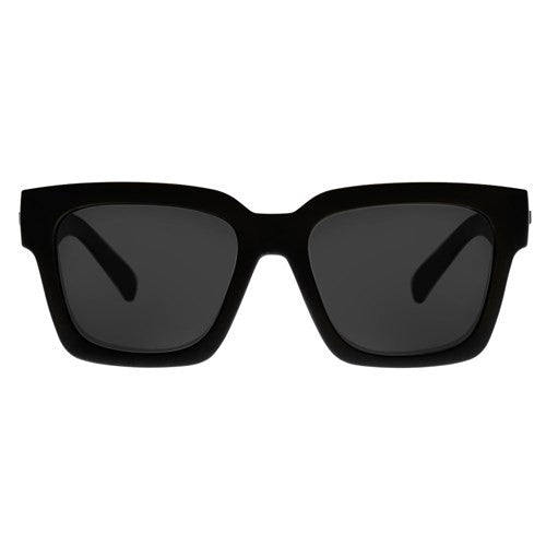 Le Specs Weekend Riot Black Rubber Smoke Mono Polarized