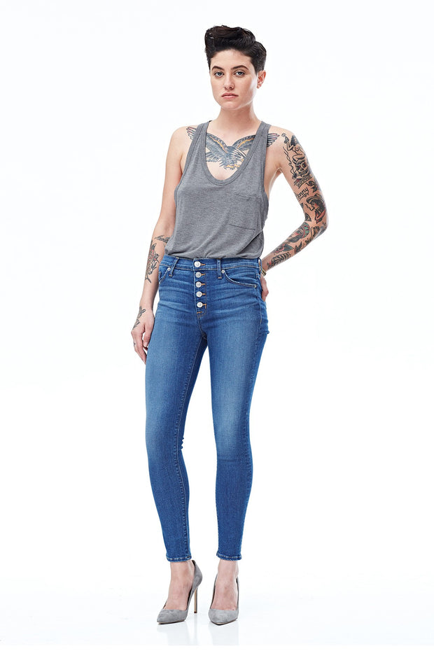 Hudson - Ciara High Rise Ankle Skinny Super Skinny Buttonfly