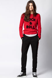 ZADIG & VOLTAIRE - Delly C Rock Sweater in Passion
