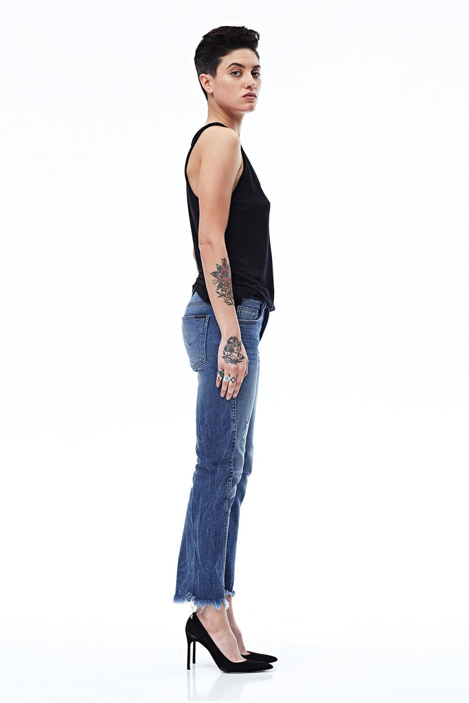 Hudson - Rival Seamed High Rise Straight Jeans
