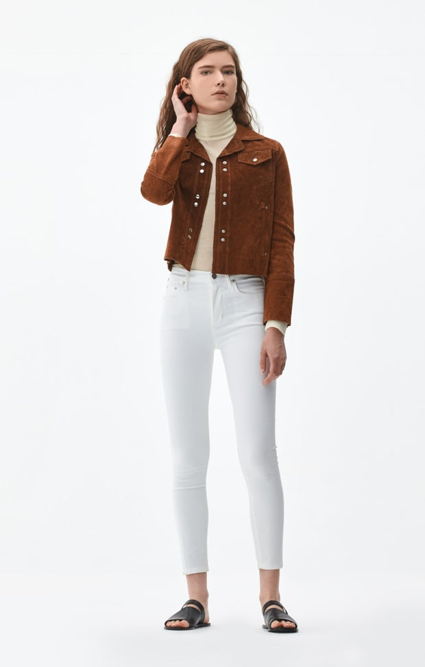 Citizens of Humanity - Rocket Crop High Rise Skinny in Sculpt White