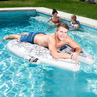 Swimways Star Wars Millennium Falcon Ride-On Pool Raft