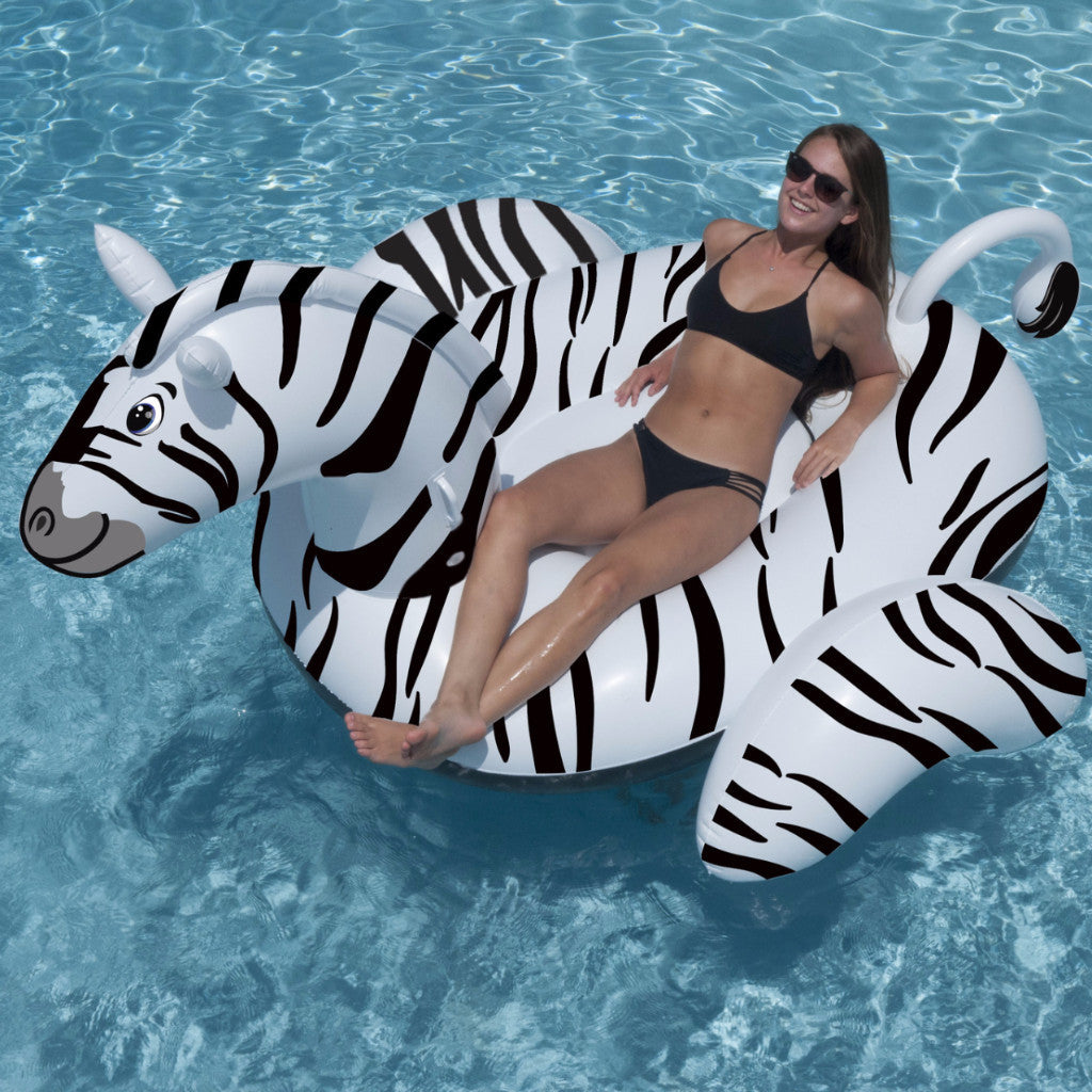 Swimline Giant Zebra Ride-On Pool Float