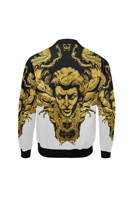 Imjennius Face Two-Tone Bomber Jacket