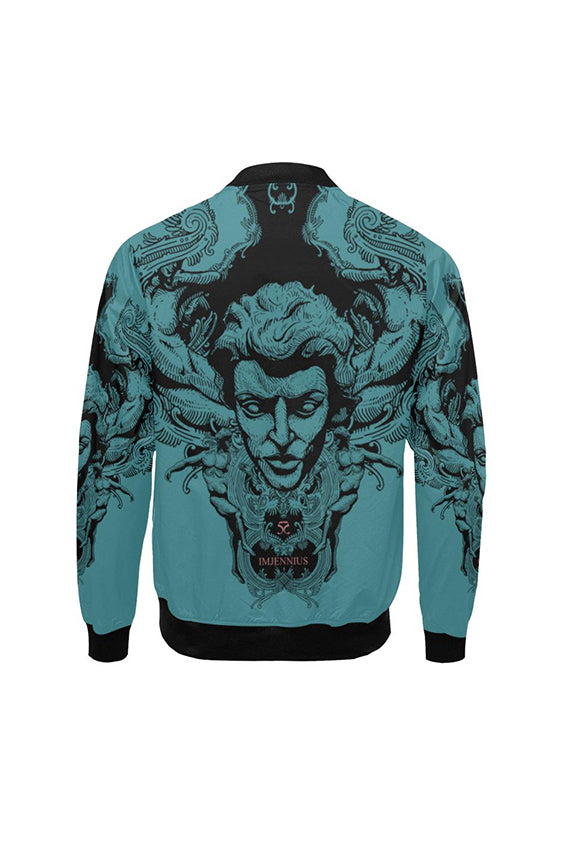 Imjennius Face Blue Bomber Jacket