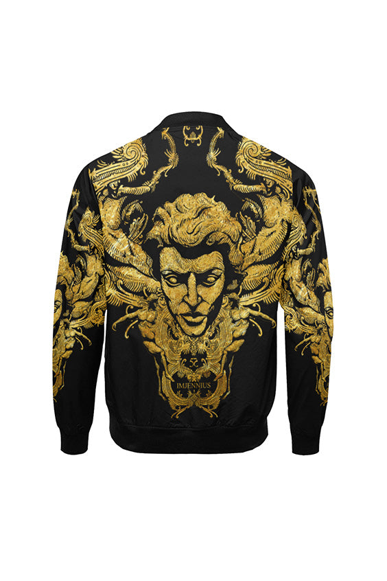 Imjennius Face Black Bomber Jacket