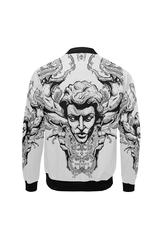 Imjennius Face Light Grey Bomber Jacket