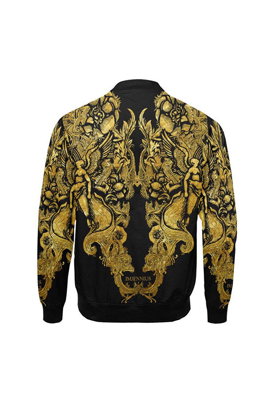 Guardian Angel Gold Bomber Jacket