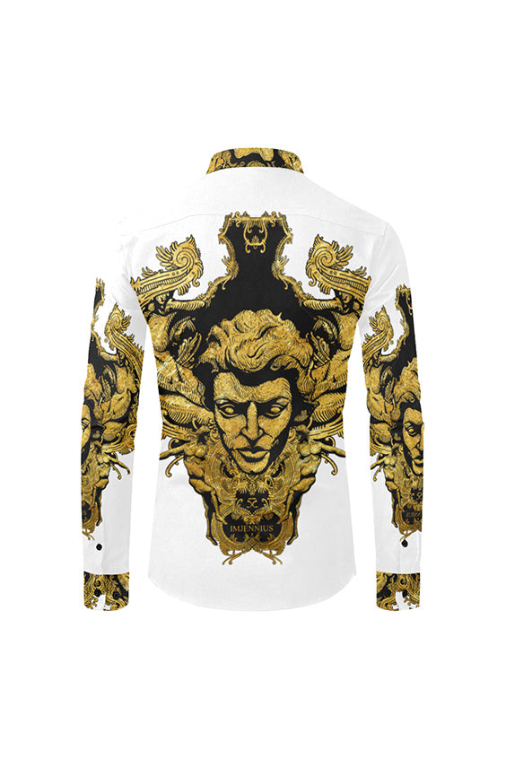 Imjennius Gold on White Face Shirt