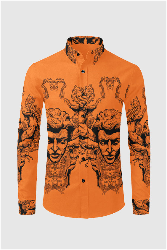 Imjennius Face Hermes Orange Shirt