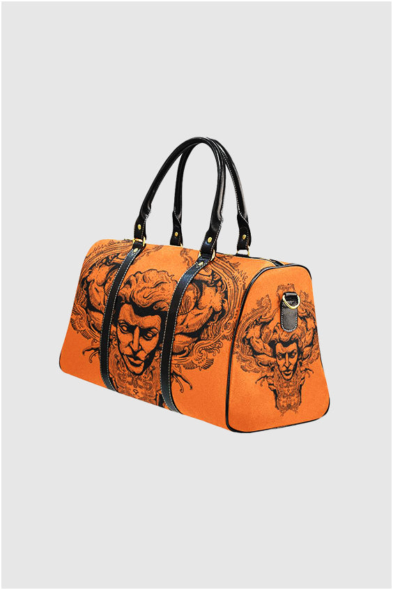 Imjennius Face Hermes Orange Travel Bag