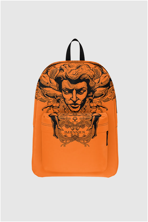 Imjennius Face Hermes Orange backpack