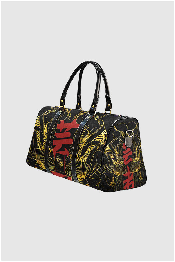 Geisha Kanji Gold Travel Bag