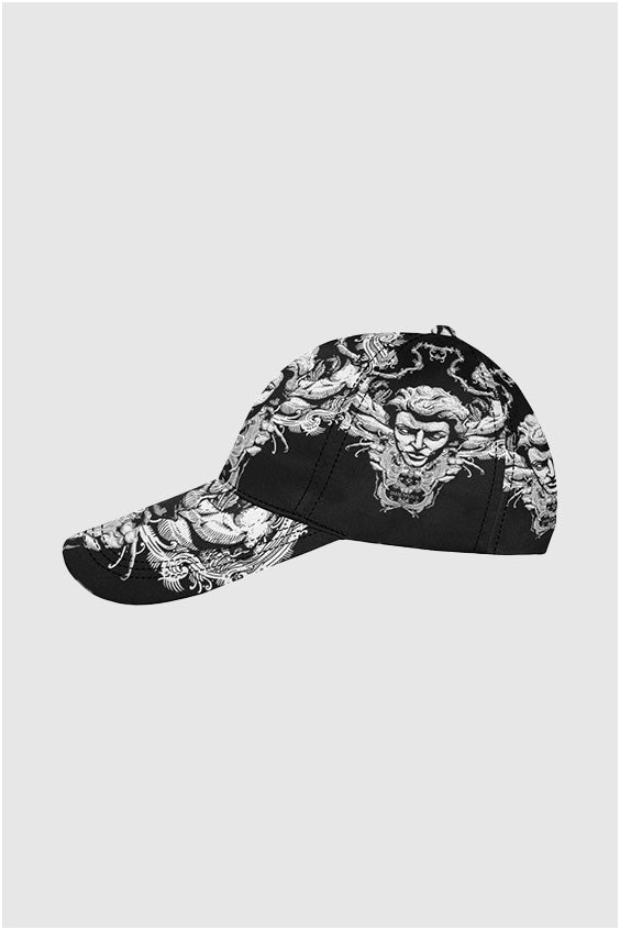 Imjennius Face White on Black Dad Cap