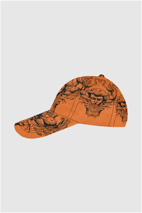Imjennius Face Hermes Orange Dad Cap