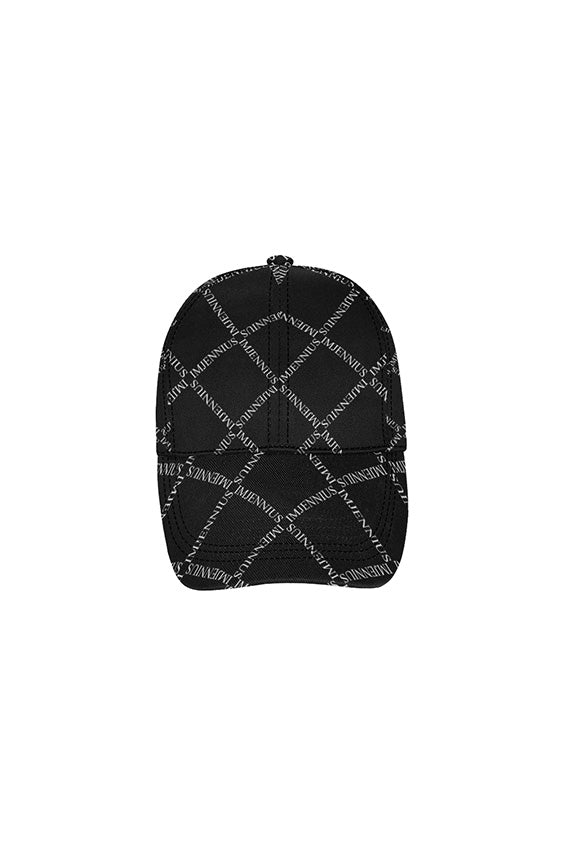 Typo White on Black Dad Cap
