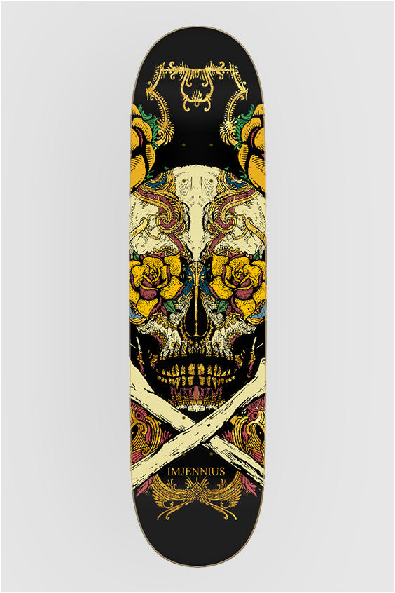 Dia de los Muertos on Black Original Skateboard