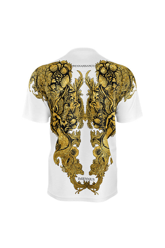 Angel Gold on White T-shirt