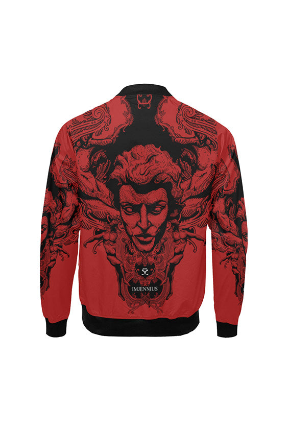 Imjennius Face Red Bomber Jacket