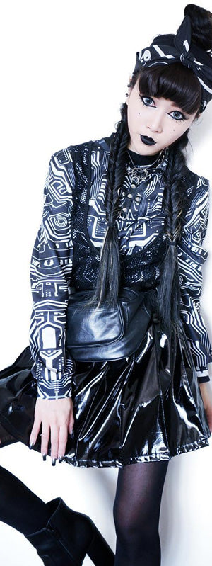 Dustrial future black goth fashion and clothing