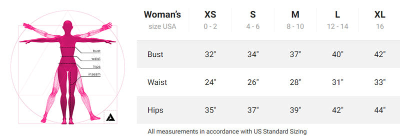 Dustrial Leggings Size Chart