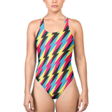 BOLT CMYK ONE-PIECE SWIMSUIT-Dustrial