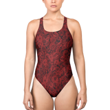 ROSES RED ONE-PIECE SWIMSUIT-XS-Dustrial