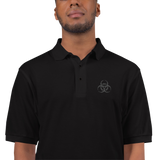 BIOHAZARD E POLO SHIRT-Blvck-S-Dustrial