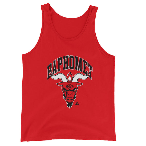 BAPHOMET UNISEX TANK TOP-Dustrial-future-fashion-scifistreet-UNI TANK TOP BELLA-Red-XS-