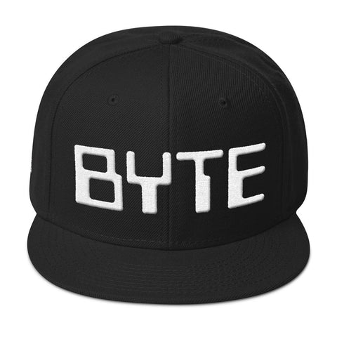 BYTE SNAPBACK-Dustrial-future-fashion-scifistreet-HAT-OT-S-White-