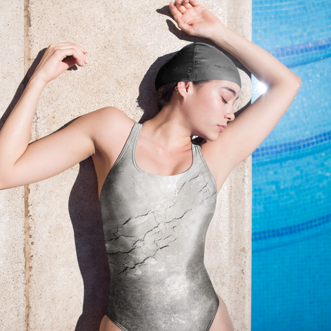 CONCRETE ONE-PIECE SWIMSUIT-XS-Dustrial