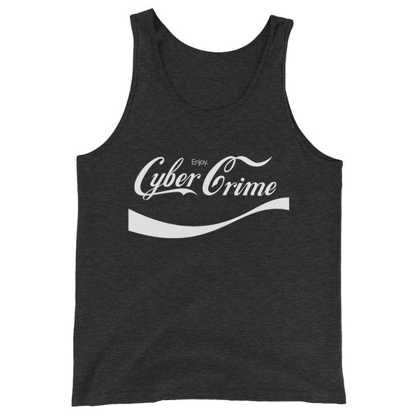 CYBERCRIME CLASSIC UNISEX TANK TOP-Dustrial-future-fashion-scifistreet-UNI TANK TOP BELLA-Charcoal-black Triblend-XS-