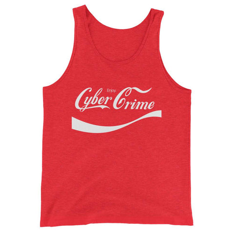 CYBERCRIME CLASSIC UNISEX TANK TOP-Dustrial-future-fashion-scifistreet-UNI TANK TOP BELLA-Red Triblend-XS-