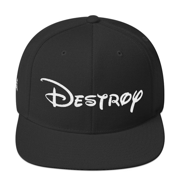 DESTROY SNAPBACK-Dustrial-future-fashion-scifistreet-HAT-YUP-S-Black-