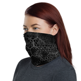 HEX PHASE BLVCK NECK GAITER MASK-Dustrial